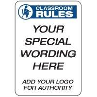 Classroom Rules  - Custom School Safety Signs
