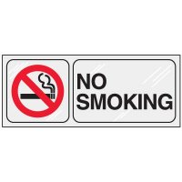 No Smoking Clear Adhesive Labels