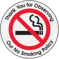 Smoking Policy Clear Adhesive Labels