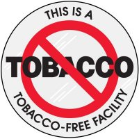 Tobacco Free Clear Adhesive Labels
