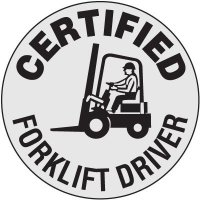 Certified Forklift Driver Clear Labels