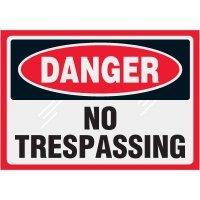 Clear Labels - Danger No Trespassing
