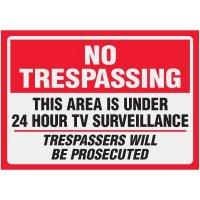 Clear Labels - No Trespassing