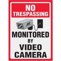 Clear Labels - No Trespassing Monitored By Video Camera