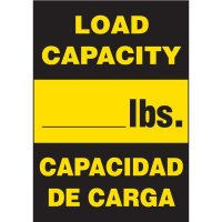 Bilingual Load Capacity Labels