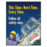 Clement Safety Posters - Follow Safety Rules