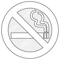 No Smoking Symbol Window Decal