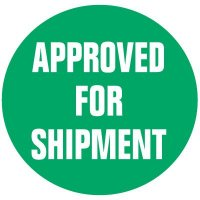 Cold Adhesion Roll Form Labels - APPROVED FOR SHIPMENT