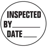 Cold Adhesion Roll Form Labels - INSPECTED BY DATE