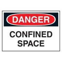 Cold Adhesion Safety Labels - Danger Confined Space