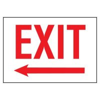 Cold Adhesion Safety Labels - Exit Arrow Left