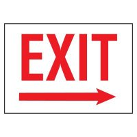 Cold Adhesion Safety Labels - Exit Arrow Right