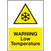 Cold Adhesion Safety Labels - Warning Low Temperature