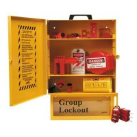 Brady 99709 Combined Lockout & Lock Box Station With Components & 6 Brady Safety Padlocks, 12 Tags
