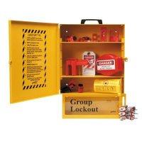 Brady 99710 Combined Lockout & Lock Box Station With Components & 6 Brady Steel Padlocks, 12 Tags
