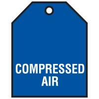 Compressed Air - Vinyl Valve Indicator Tag