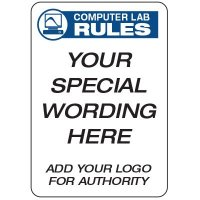 Computer Lab Rules  - Custom School Safety Signs