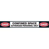 Anti-Slip Danger Confined Space Floor Labels