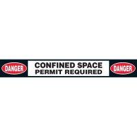 Anti-Slip Permit Required Floor Labels