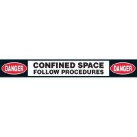 Confined Space Procedures Floor Labels