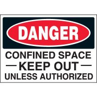 Keep Out Confined Space Labels