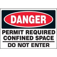 Permit Required Confined Space Labels