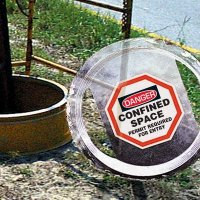 Confined Space Manhole Warning Barrier