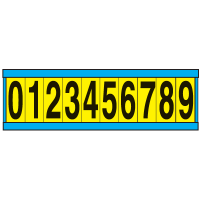 """9/16"""" x 3/4"""" Consecutive Letters And Numbers"""
