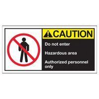 Conveyor Safety Labels - Caution Do Not Enter Hazardous Area