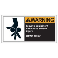 Conveyor Safety Labels - Warning Moving Equipment Can Cause Severe Injury