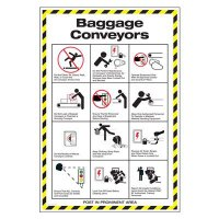 Conveyor Safety Poster - Baggage Conveyors