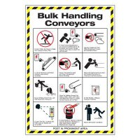 Conveyor Safety Poster - Bulk Handling Conveyors