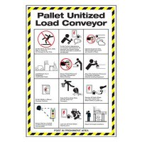 Conveyor Safety Poster - Pallet Unitized Load Conveyor