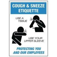 Cough & Sneeze Etiquette Label