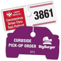 Custom Cardstock Parking Permits