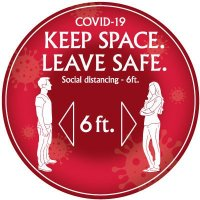 Temporary Floor Markers - COVID-19 Keep Space Leave Safe