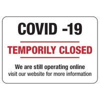 COVID-19 Temporarily Closed Signs