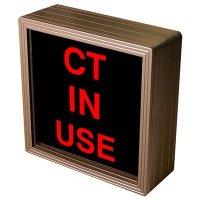 CT In Use Backlit LED Sign