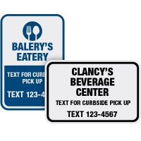 Text For Curbside Pick Up Signs