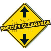 Custom Clearance Sign