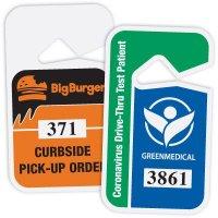 2-Color Custom Hanging Plastic Parking Permits