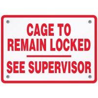 Custom Cylinder Locker Sign