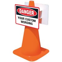 Custom Deluxe Traffic Cone Signs