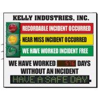 Custom Electronic Safety Signal Scoreboard