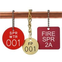 Custom Fire Sprinkler Valve ID Tags