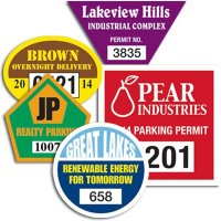 Custom Front And Back Adhesive Parking Permits