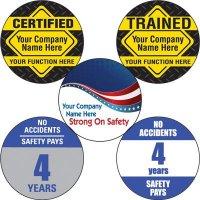 Custom Safety Hard Hat Labels
