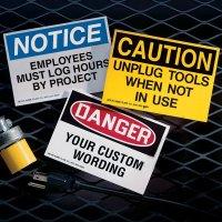Custom OSHA Hazard Warning Labels
