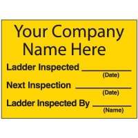 Custom Ladder Inspection Labels