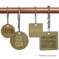 Custom Engraved Brass Valve Tags